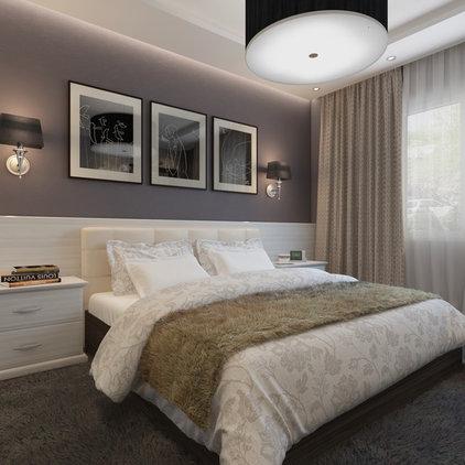 Transitional Bedroom by Shmidt Studio