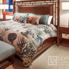 Tropical Bedroom by The Longhouse Group
