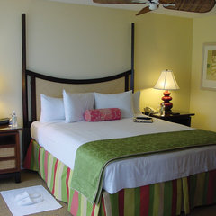tropical bedroom by V B Designs, Inc.