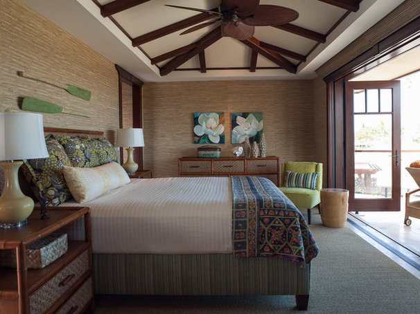 Tropical Bedroom by Henderson Design Group