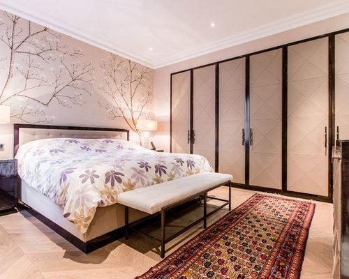 Contemporary Orange Bedroom Design Ideas Renovations Photos