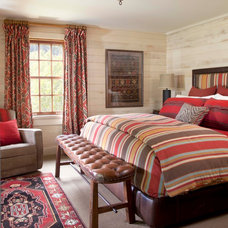 Rustic Bedroom by Ashley Campbell Interior Design
