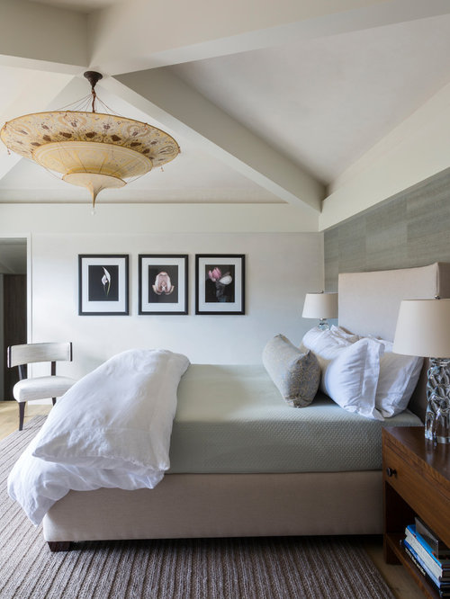 Contemporary Room Ideas Part - 46: Example Of A Trendy Master Bedroom Design In Denver With Beige Walls