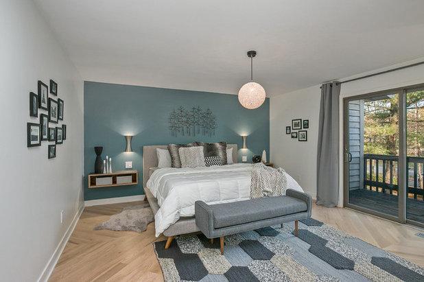Midcentury Bedroom by CVI Design - Carly Visser