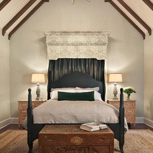 Diseño de dormitorio clásico con paredes grises