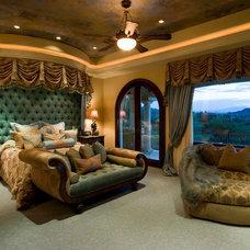 Mediterranean Bedroom by Pinnacle Architectural Studio