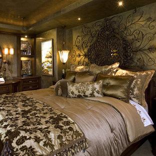 Bedroom - mediterranean bedroom idea in San Diego