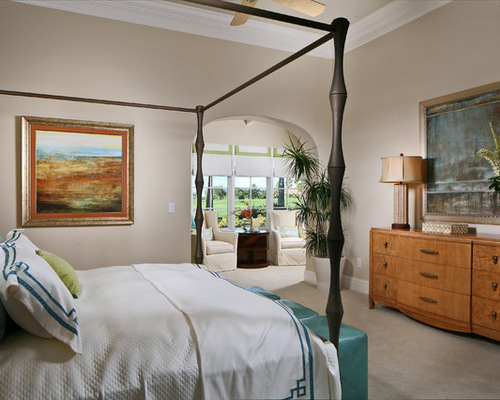 Tan Bedroom | Houzz