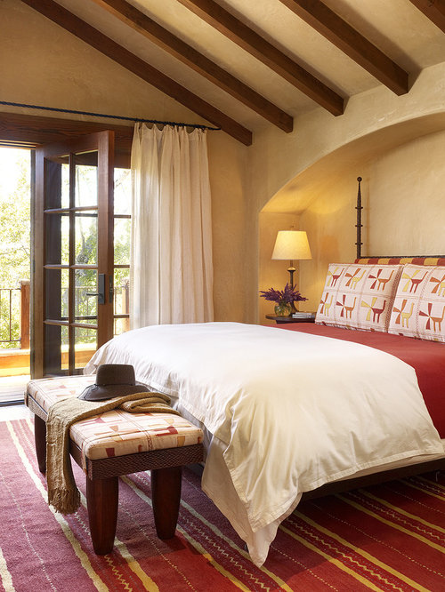 Red And Yellow Bedroom Ideas And Photos | Houzz
