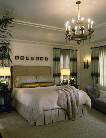 Mediterranean Bedroom by Tommy Chambers Interiors, Inc.