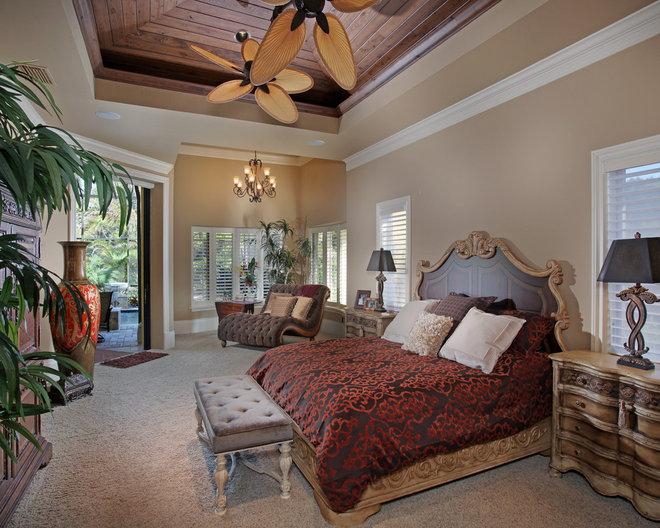Mediterranean Bedroom by Weber Design Group, Inc.