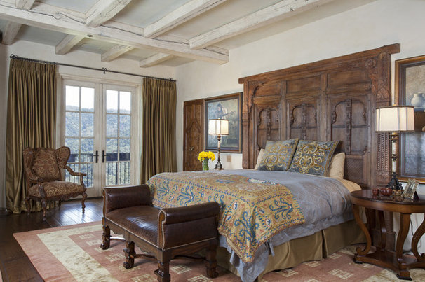 Mediterranean Bedroom by John Malick & Associates
