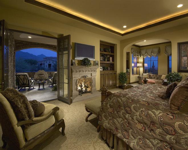 Mediterranean Bedroom by Gina Spiller Design