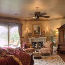 Mediterranean Bedroom by Curtis Cook Designs