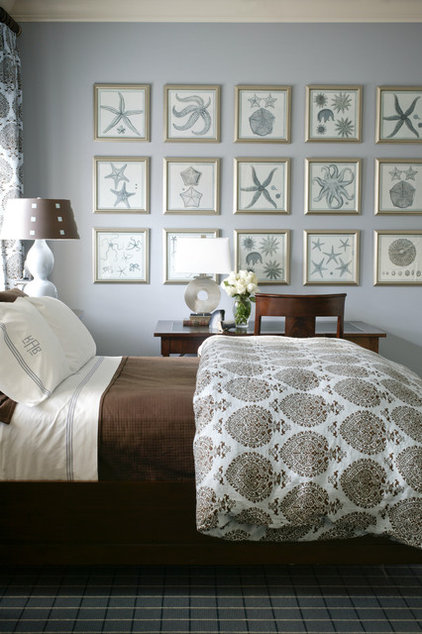 mediterranean bedroom by Tobi Fairley Interior Design
