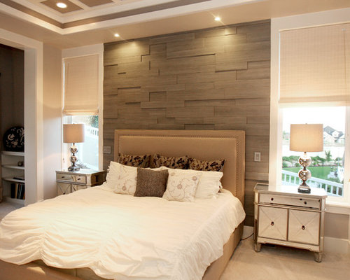 Wood Wall Behind Bed Home Design Ideas, Pictures, Remodel ...