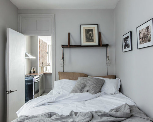 Eclectic Bedroom Design Ideas Remodels Photos With Gray Walls Houzz