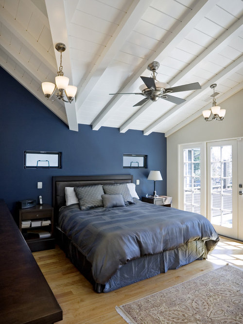 Dark Blue Accent Wall Home Design Ideas, Pictures, Remodel ...