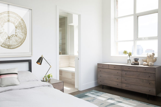 Transitional Bedroom by Croma Design Inc