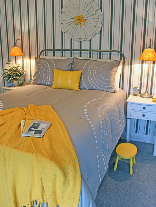 Yellow Bedroom Design Ideas Renovations Photos With