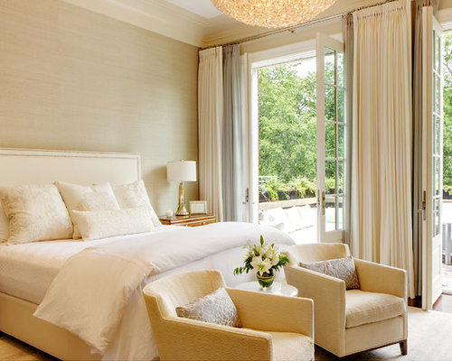Mid Sized Transitional Bedroom Design Ideas Remodels Photos Houzz