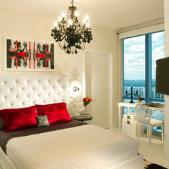 modern bedroom by Britto Charette - Interior Designers Miami Florida