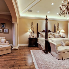 Mediterranean Bedroom by Michael Molthan Luxury Homes Interior Design Group
