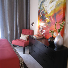 contemporary bedroom by Michelle Salz-Smith, ASID, CID @ Studio Surface