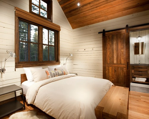 guest bedroom furniture. Mountain style guest medium tone wood floor and brown bedroom photo with  white walls Top 20 Guest Bedroom Ideas Decoration Pictures Houzz ussisaalattaqwa com 100 Furniture Images The