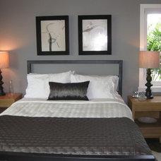 Midcentury Bedroom by ionDesign,LLC
