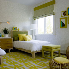 midcentury bedroom by Amy Lau Design