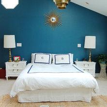 rtro chambre midcentury bedroom - Chambre Bleu Canard