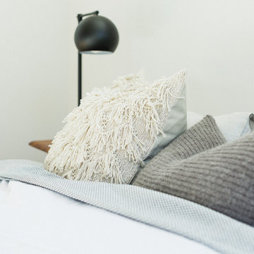 Midcentury Modern Tonal Bedroom with Gumball Lamp