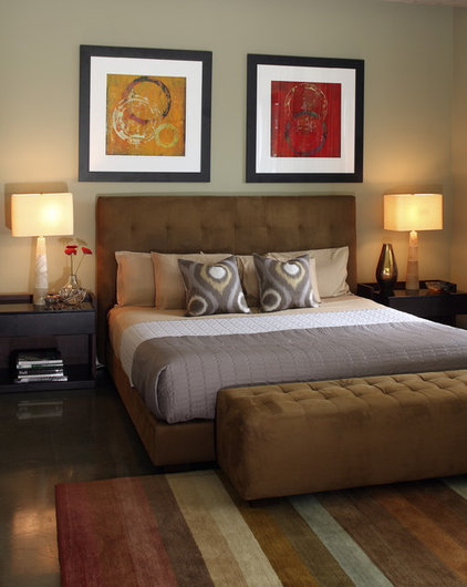 Transitional Bedroom by Walter Studio Interior Design