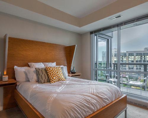 Camera da letto con pavimento con piastrelle in ceramica omaha