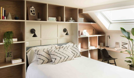 Room Tour: A Loft Bedroom and Bathroom Packed With Storage