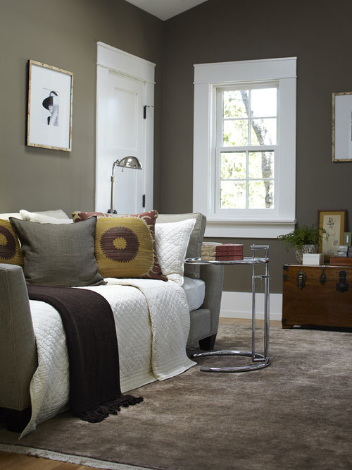 Dark taupe walls design ideas remodel pictures houzz for Kleurcombinaties interieur