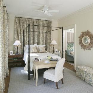 Bedroom - traditional master bedroom idea in Charleston with beige walls