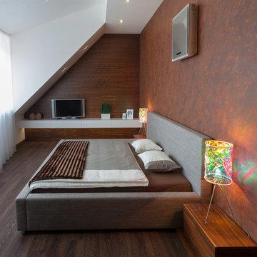 Minimalist rooftop apartment