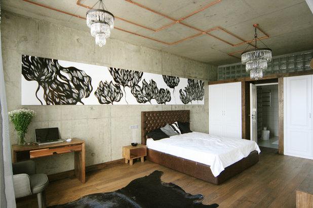 Лофт Спальня by ARCHPOLE