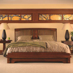 Example of an arts and crafts bedroom design in New York