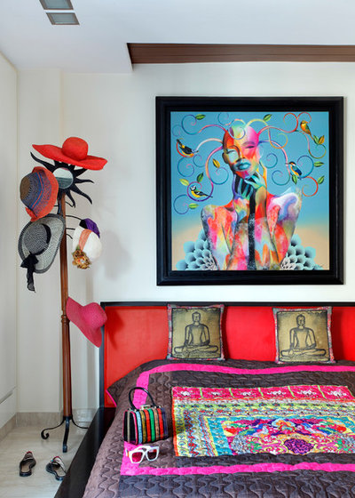 Eclectic Bedroom by Mrigank Sharma Photography