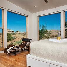 Southwestern Bedroom by Karen White Interior Design