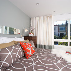 Midcentury Bedroom by Regan Baker Design