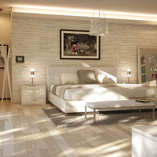 Inspiration for a modern bedroom remodel in Miami