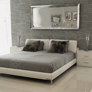 Bedroom - modern bedroom idea in Miami