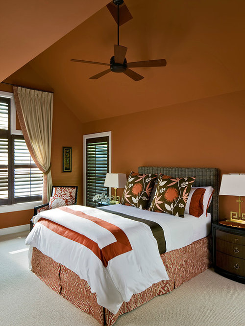 Bedroom Design Ideas Remodels Amp Photos With Orange Walls