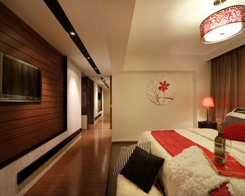 Modern apartment in singapore with a clean black white theme for Bedroom designs singapore
