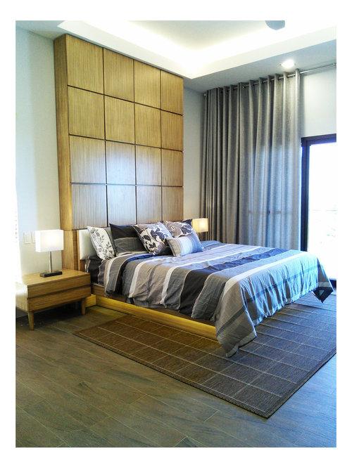 Asiatische Schlafzimmer mit Porzellan-Bodenfliesen - Ideen ...