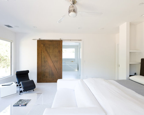 Artemis ceiling fan houzz inspiration for a large modern master carpeted and white floor bedroom remodel in san francisco with aloadofball Images